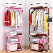 Fashionable 3 Layer Cloth Rack - Multicolor
