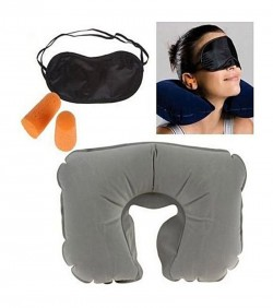 3 in 1 Travel Set - Neck Pillow, Eye Mask and Ear Plug