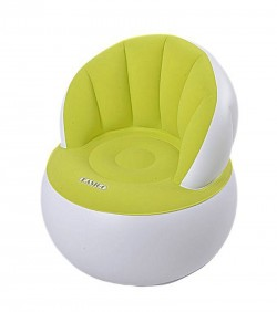 Child Portable Flocking Fast Inflatable Lazy Sofa with pumper