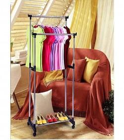 folding-double-clothes-rack-shoe-rack