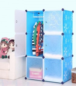 Portable Cloth Storage Rack of 6 boxes