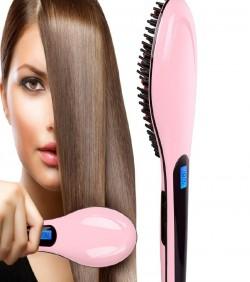 https://www.tamabil.com/Electric Fast Hair Straightener Brush - Black and Pink