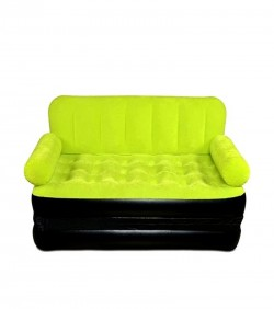 Inflatable 5 in 1 Air Bed Cum Sofa - Green Yellow