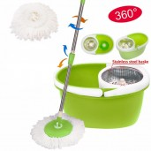 360 degree Microfibre Spin Mop steal