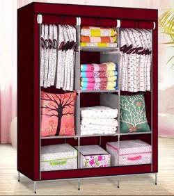 HCX Wardrobe Storage Organizer for Clothes - Big Size - Magenta