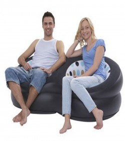 Jilong double blow up chair with hand pump