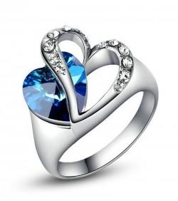 https://www.tamabil.com/Blue Heart Finger Ring- Silver and Blue