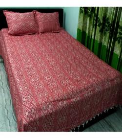 Double Size Bedsheet 3 pcs Set (কুমিল্লার বিখ্যাত খাঁদি কাপরের চাদর)