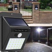 30 LED Motion Sensor Wall Solar Light Waterproof Security Lamp