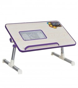 wood shape Laptop Table with Cooling Fan