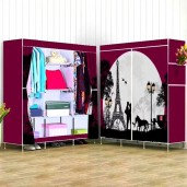 3D printed Wardrobe Storage Organizer for Clothes-red wine