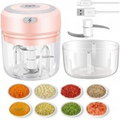 Wireless Rechargeable Electric Mini Garlic Masher Vegetable Grinder 250ML